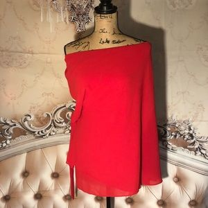 NWT- Stunning Agaci Red Side Tie Top